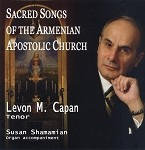 Sacred Songs of the Armenian Apostolic Church CD