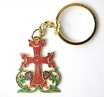 Tree of Life Cross Key Chain