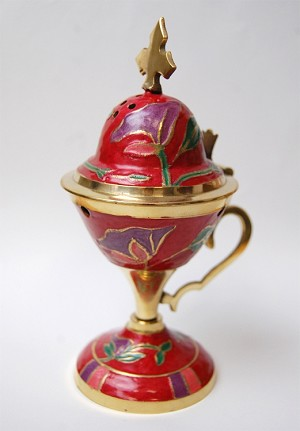 Large Enamel Incense Burner