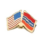 Armenian-American Flag Lapel Pin