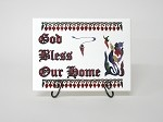 God Bless Our Home Ceramic Tile, 6x8 in.