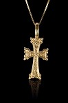1 1/4 Inch Double Sided Gold Cross
